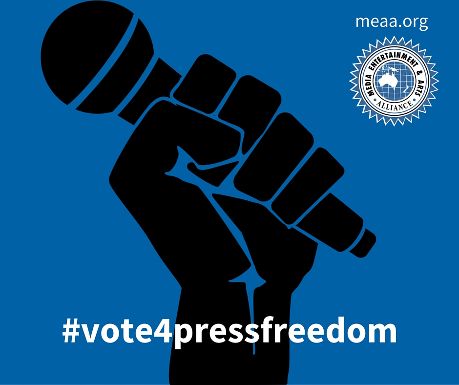 MEAA | In an election year, we want people to #vote4pressfreedom